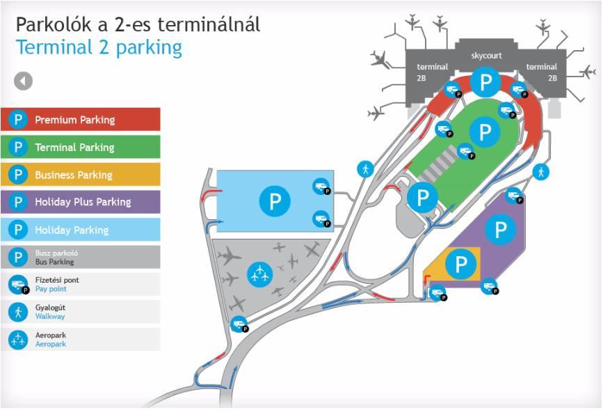 Схема парковки аеропорт Будапешт Феріхедь