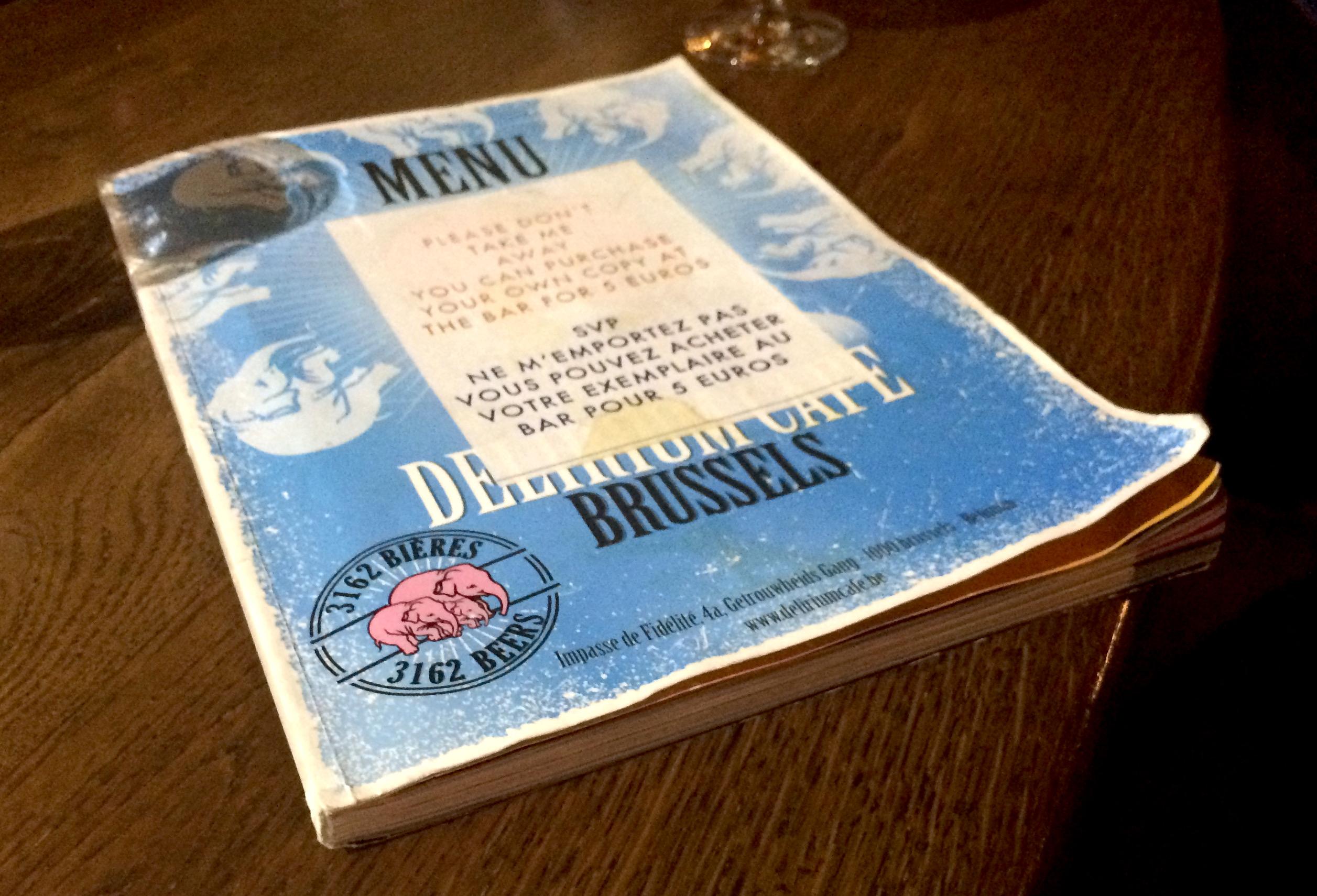 Delirium menu