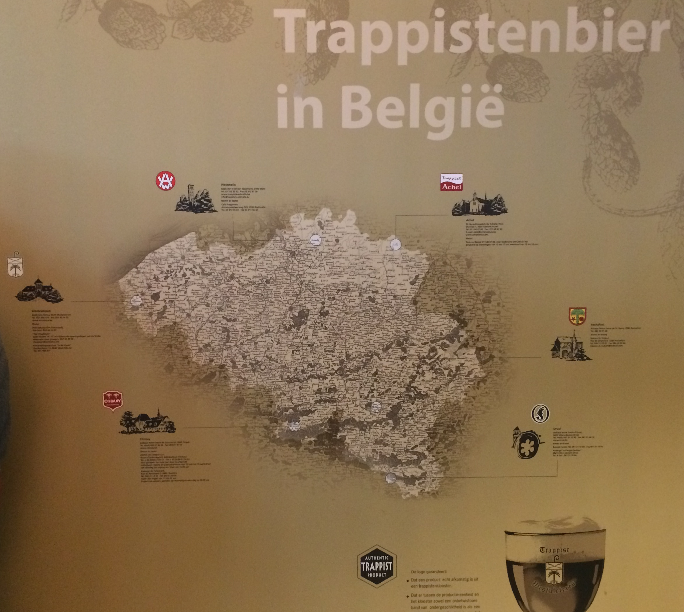 Пивна мапа Бельгії